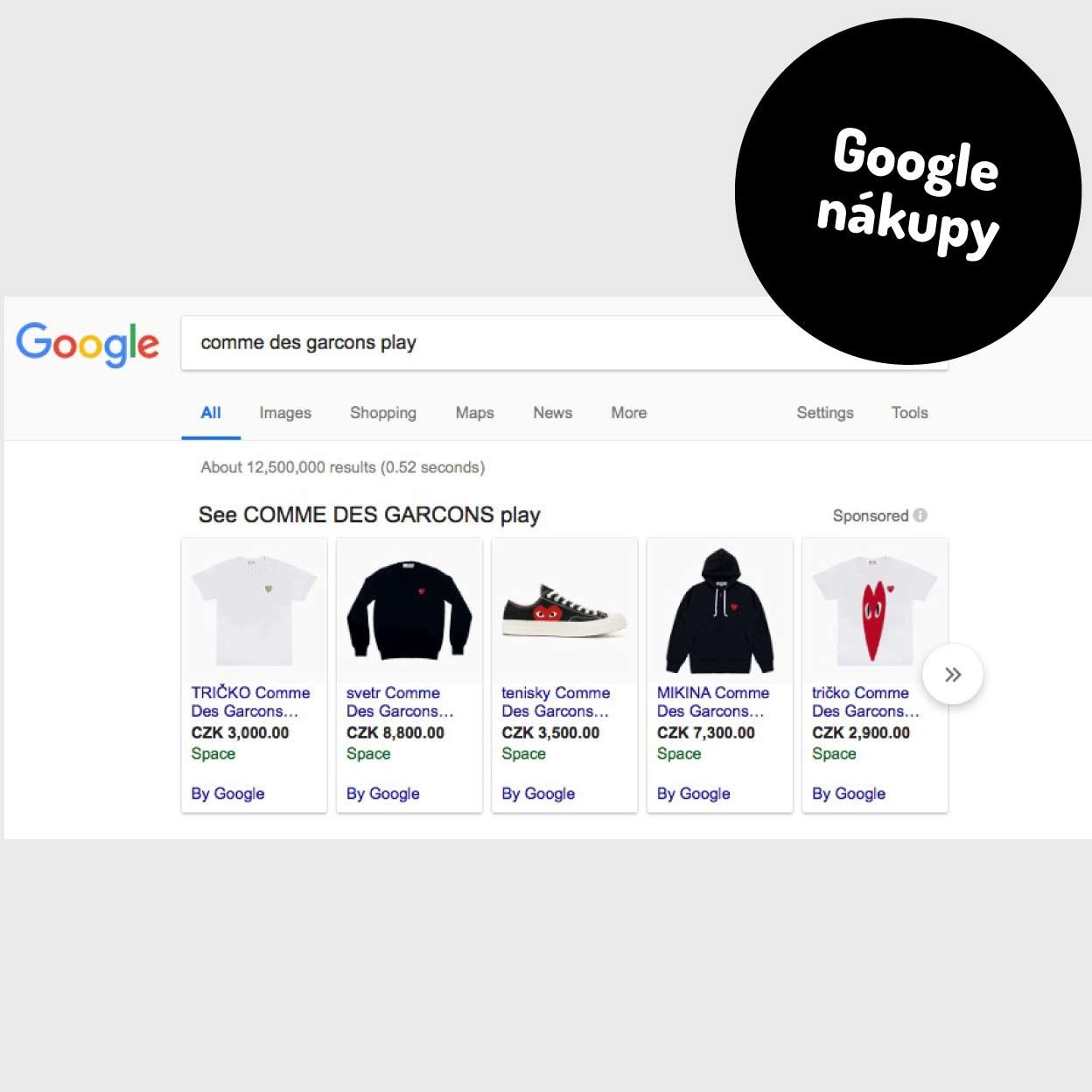 Nastavení Google Shopping